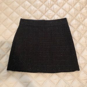 Black Sparkle Tweed Skirt